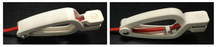 3D printed prototypes for the starter clamps