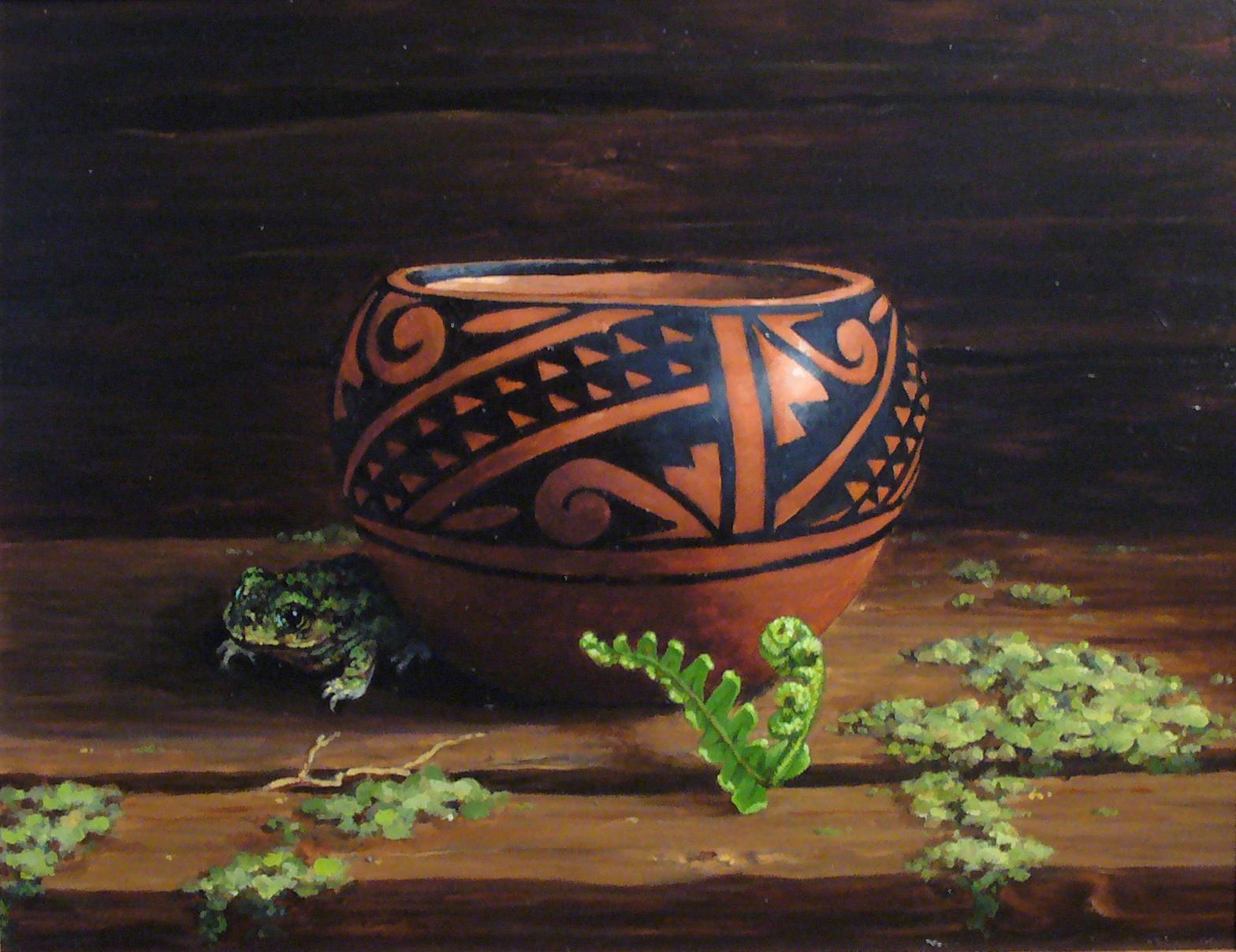 Fern Pot -- A Prayer for Rain