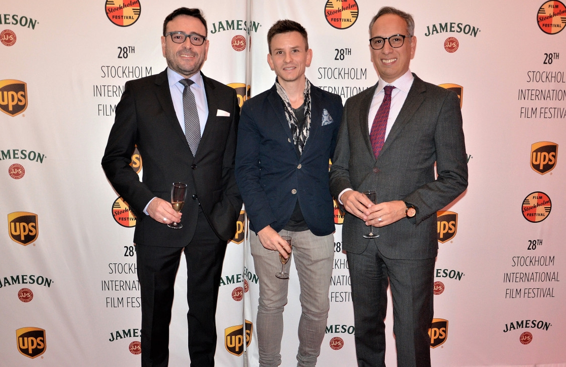 Daniel Bramme at the Stockholm International Film Festival in November with H.E. Mr. Santiago Wins and Jose Luis Tejera.
