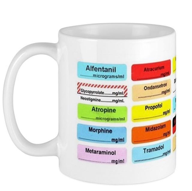 Great mug for #anaesthetists & gas givers! Link in our profile to buy #mug #druglabels