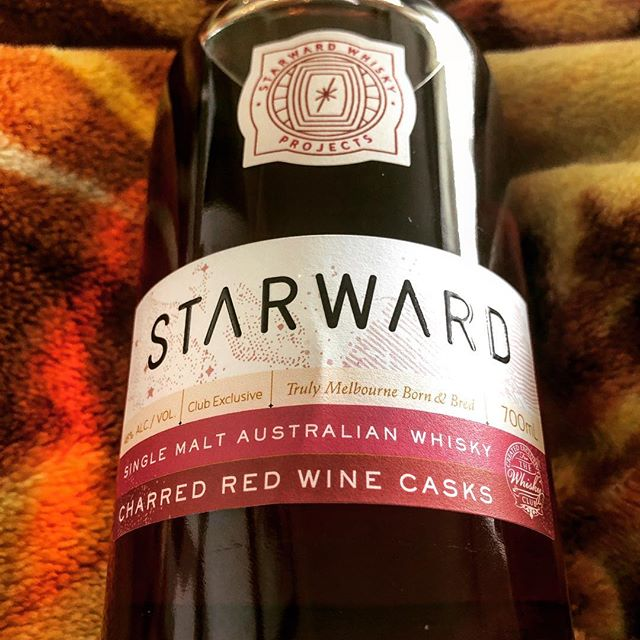 There's still something funny about using a 'Lark' image filter here... Starward's charred red wine casks release bottled for The Whisky Club from our mate Bertie. Top idea and will crack this one open with friends and members in the UK shortly for a bit of fun. Cheers! #starward #thewhiskyclub #whiskyclubau #melbourne #winecasks
