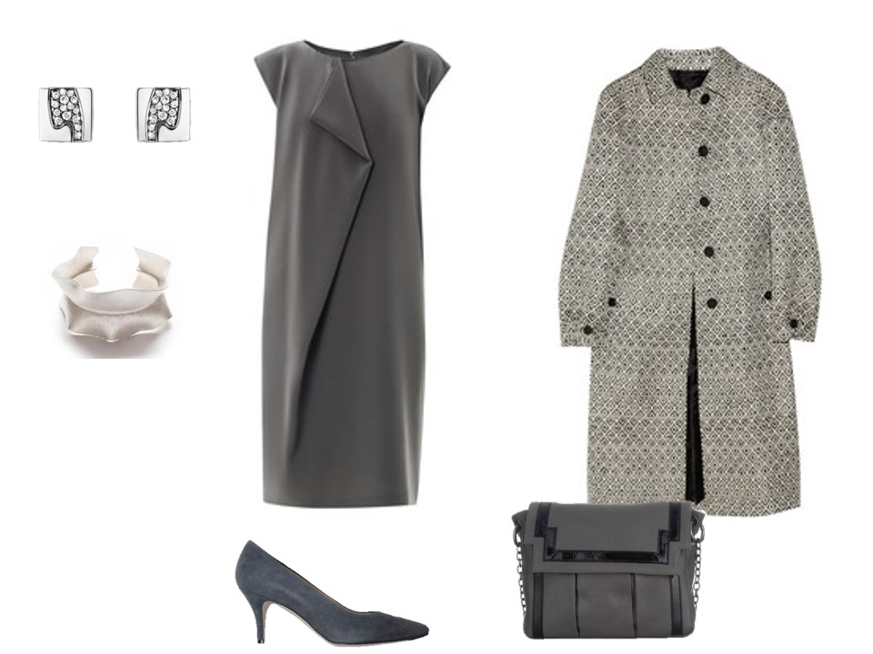 grey dress and accessories for a special event or occasion.jpg