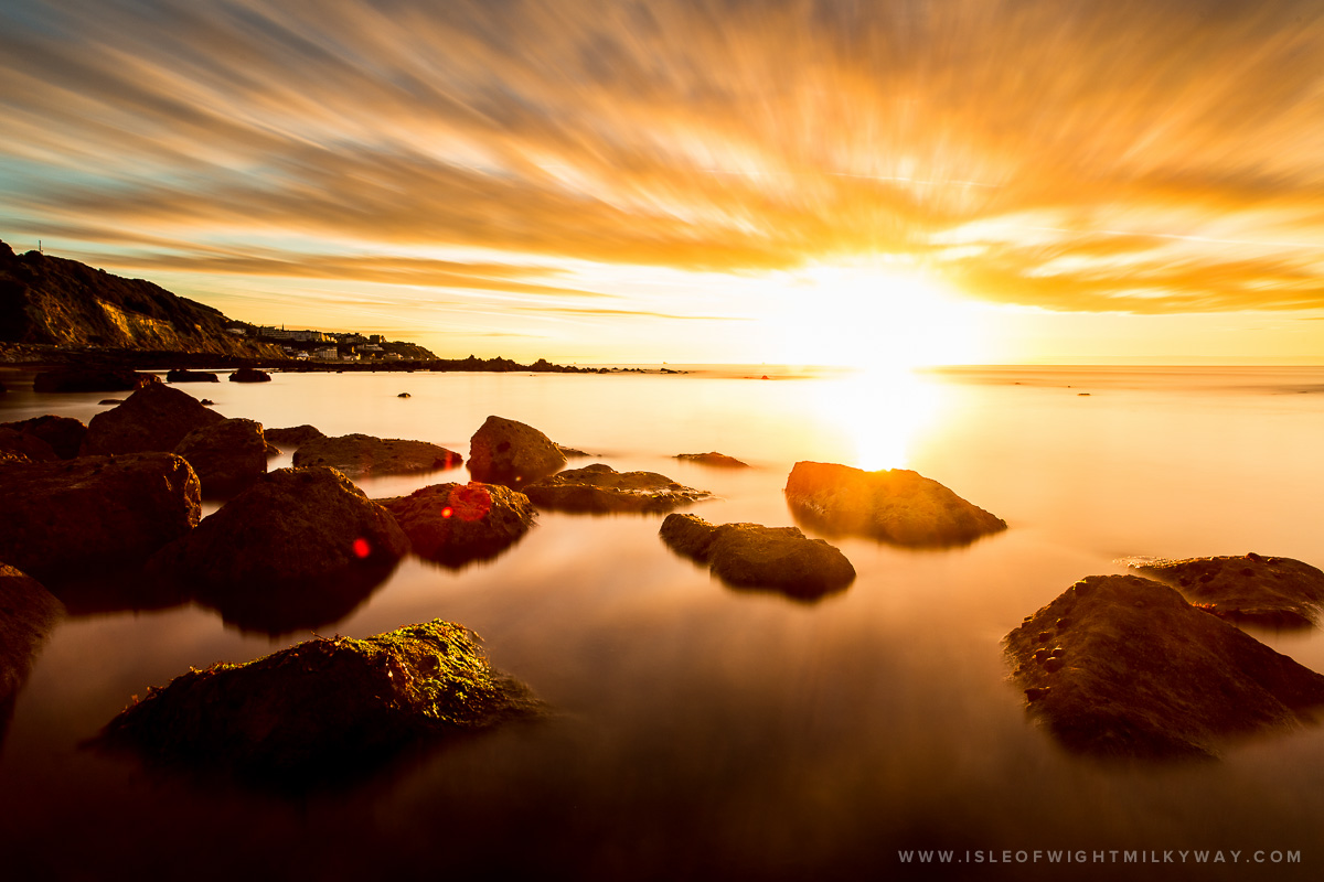 """The Golden Sunrise""   Image by Chad Powell     www.isleofwightmilkyway.com"