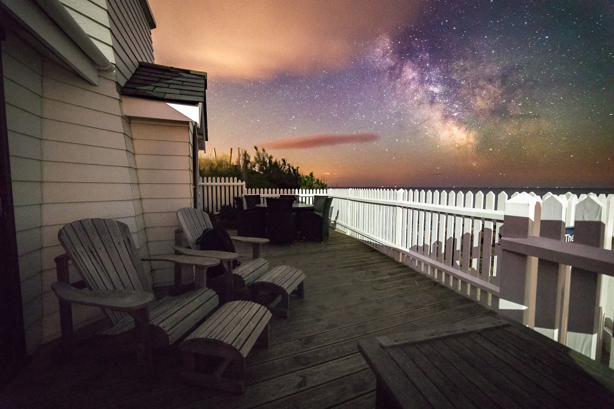 Photo of the milky way from The Lighthouse    Image by Chad Powell     www.isleofwightmilkyway.com