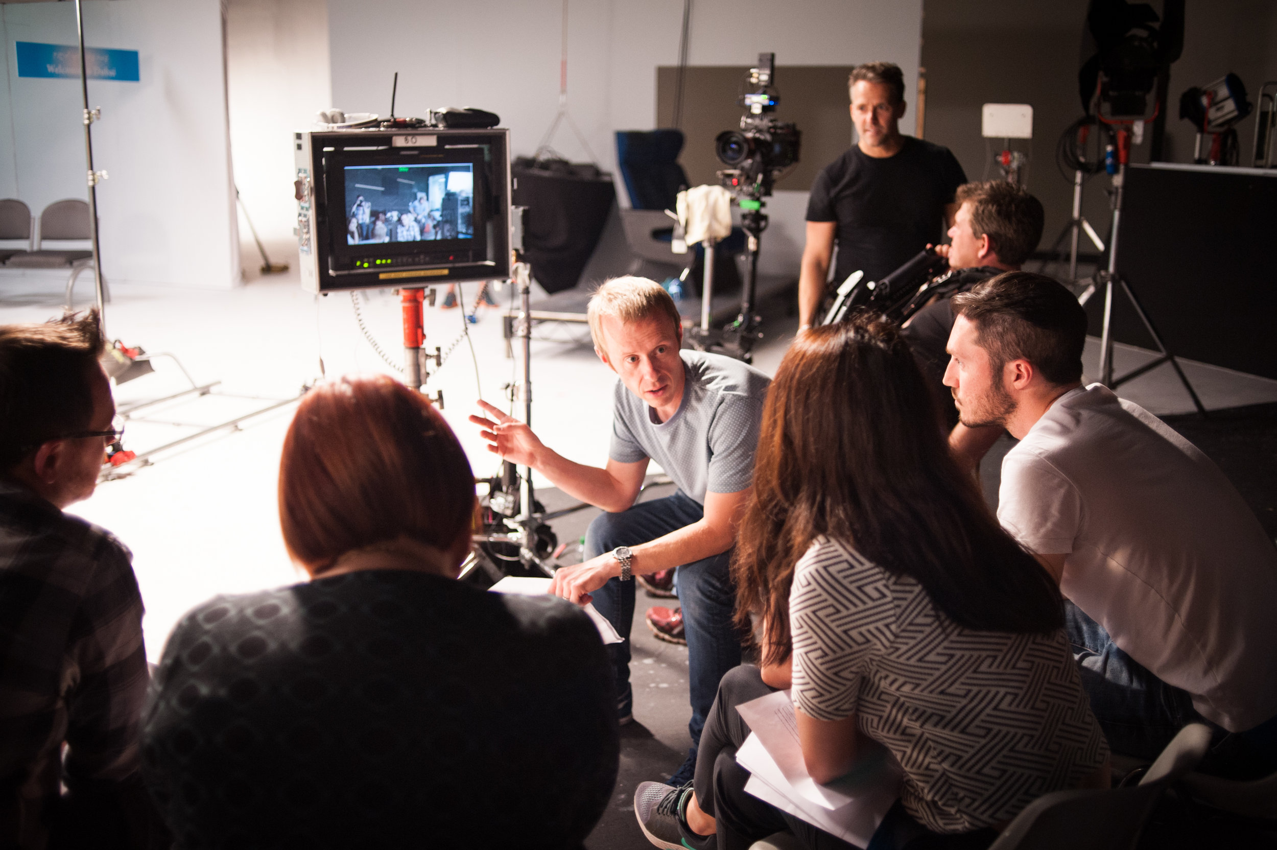 Liam on set with the agency and client. Moremilk was formed in 2014 with Liam as its primary Director. Liam recently completed the APA Masterclass in Producing - obtaining an 'outstanding' mark - and now both directs and produces.