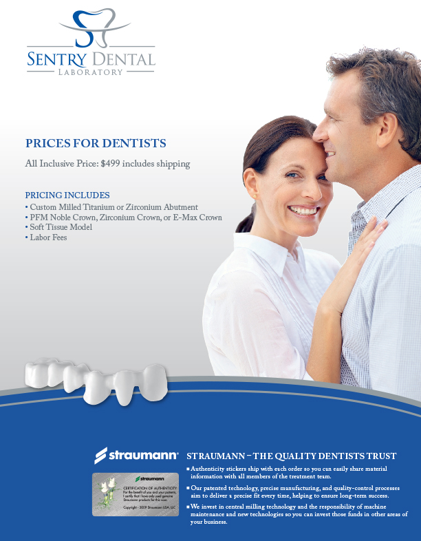 Sentry Dental Lab Flyer