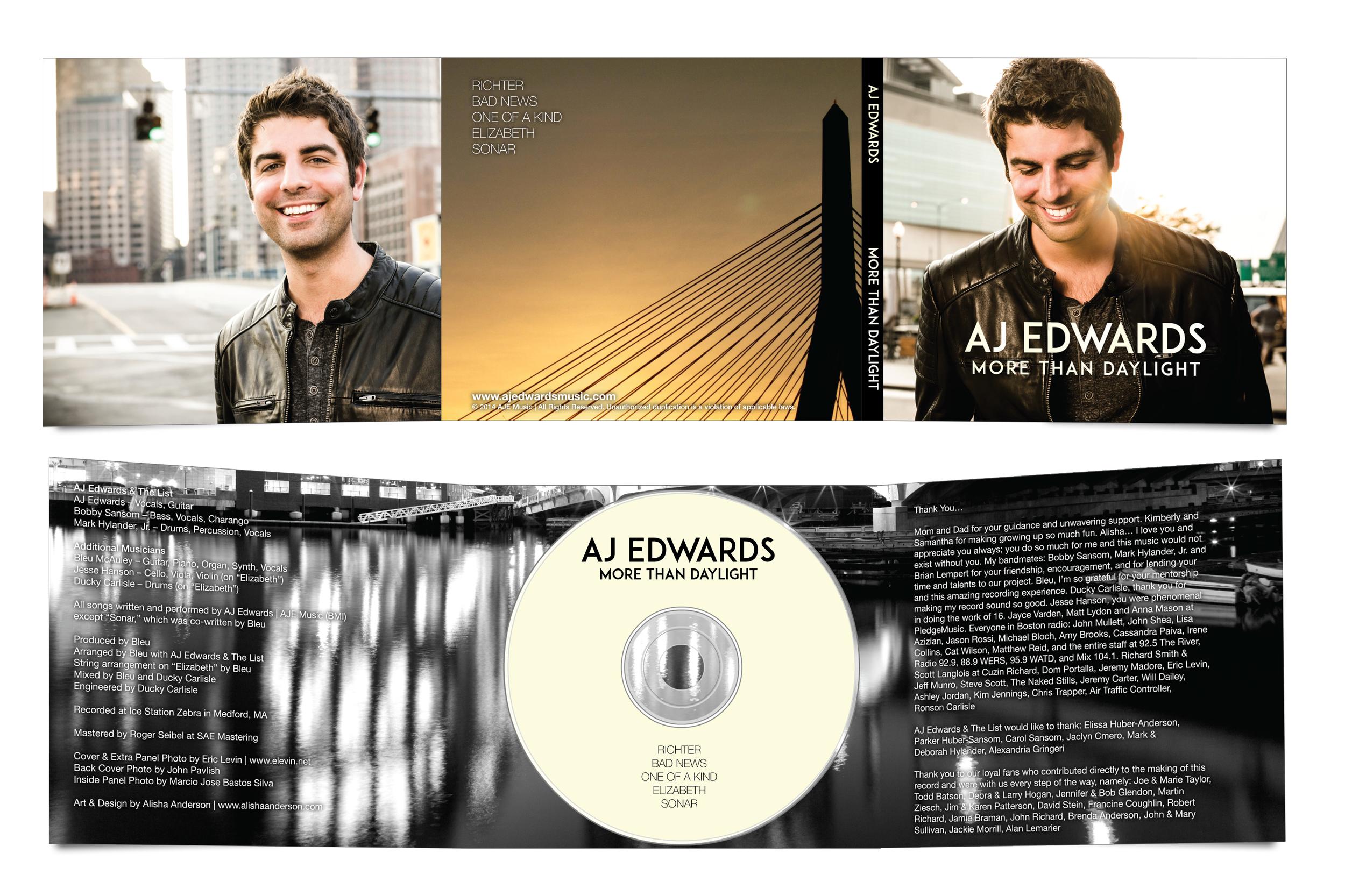 "AJ Edwards - ""More Than Daylight"" Digipak & Disc"
