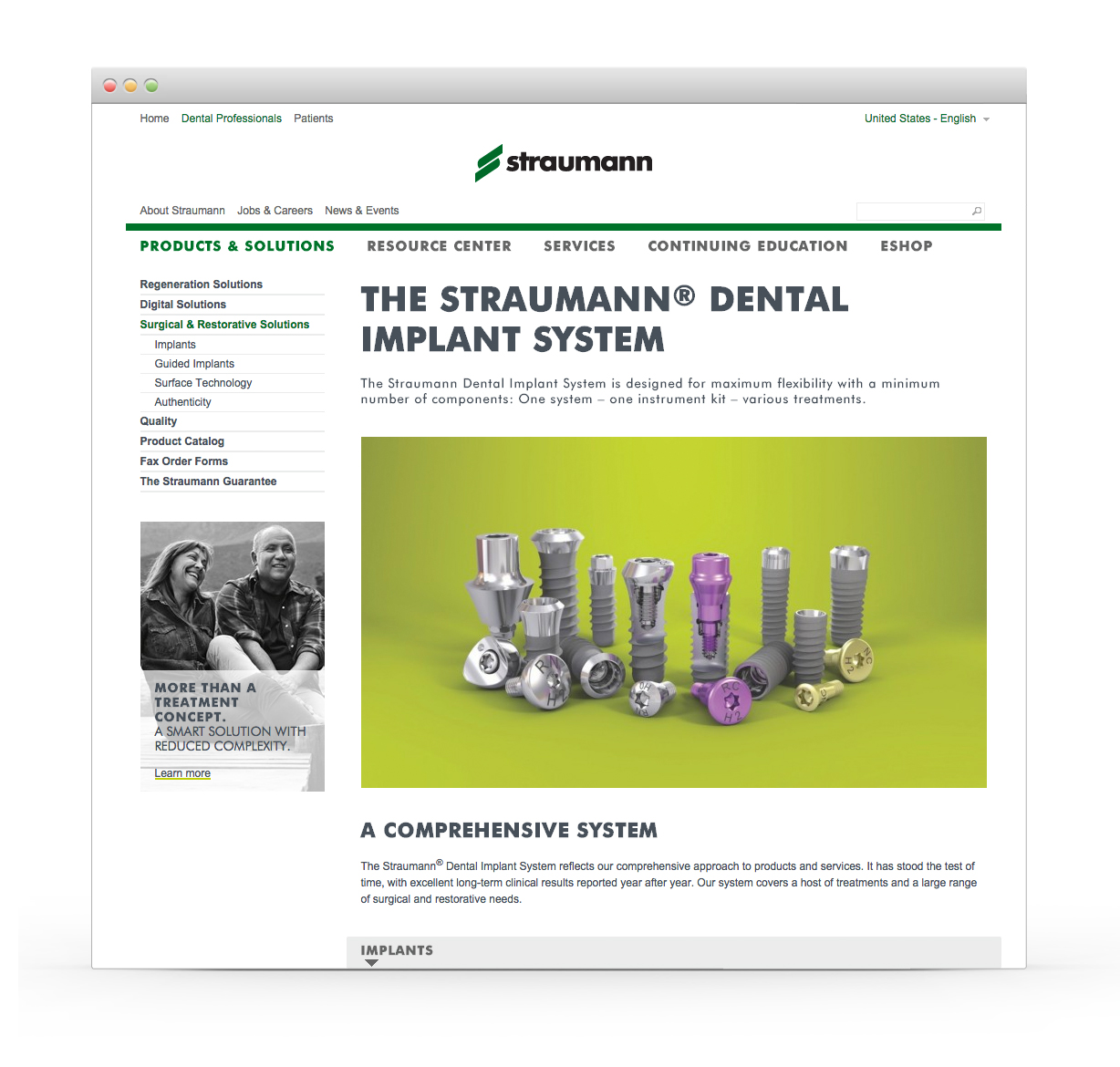 Straumann USA Website