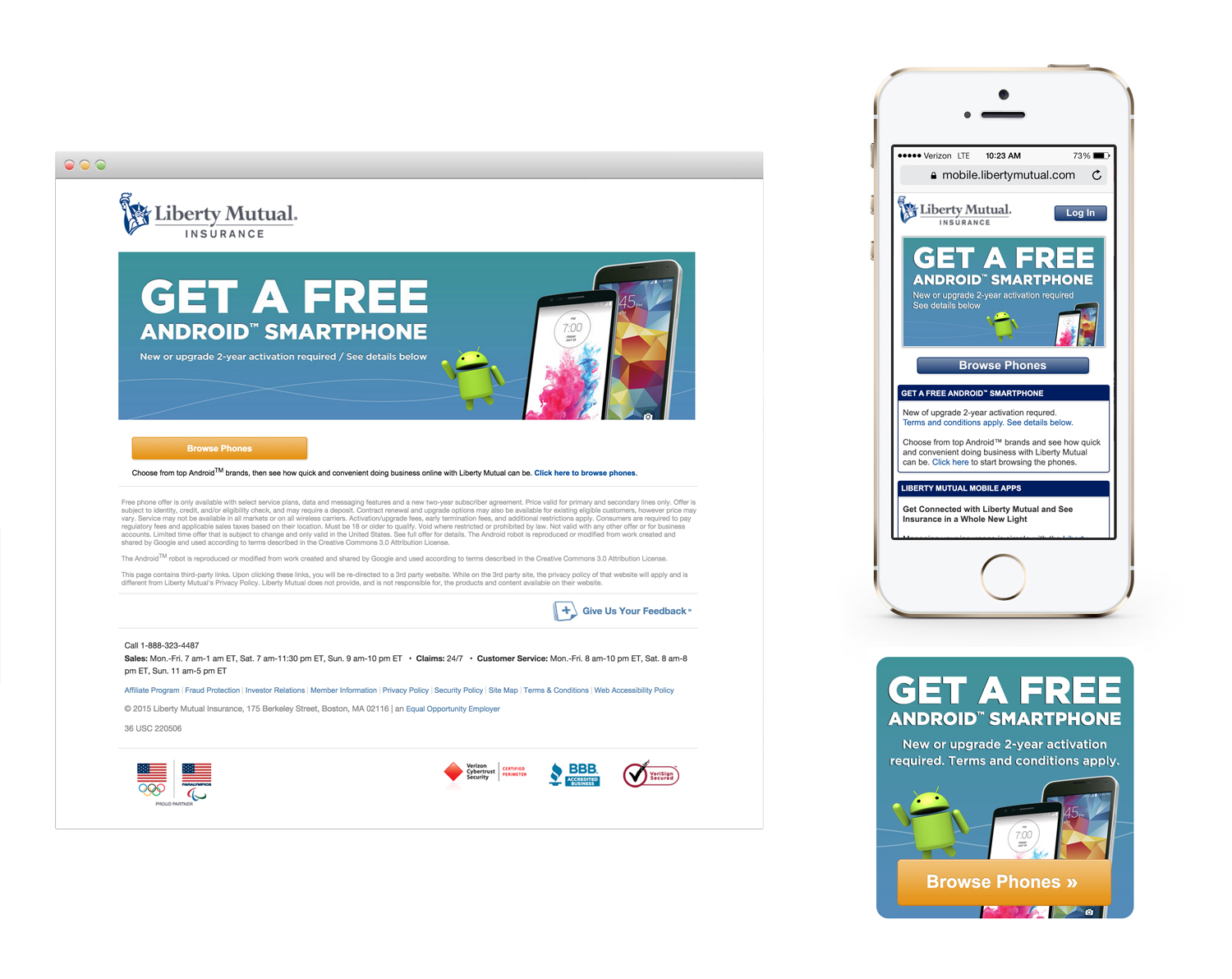 Android Promotion Landing Page & Banner