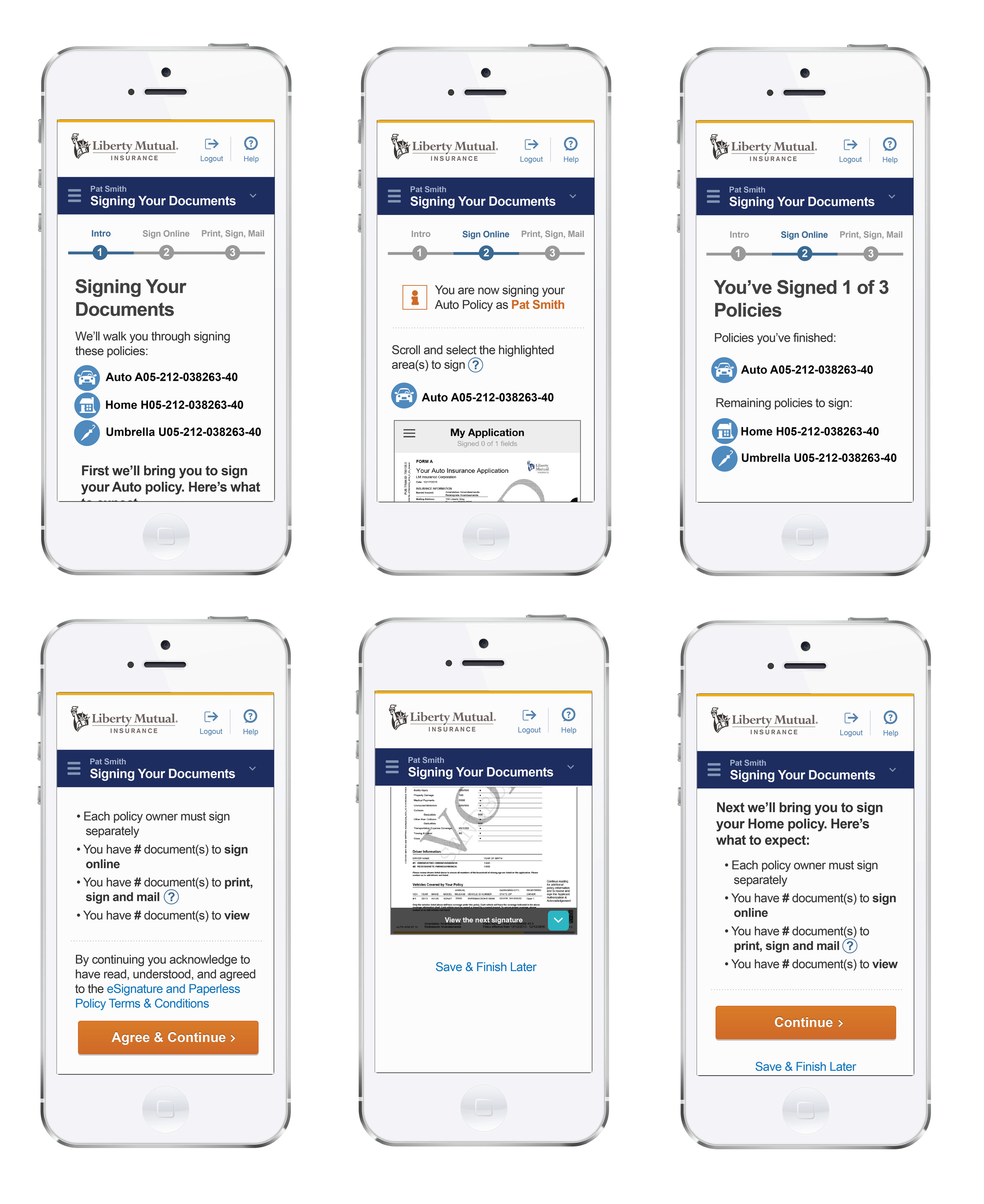 Liberty Mutual eSign - Mobile