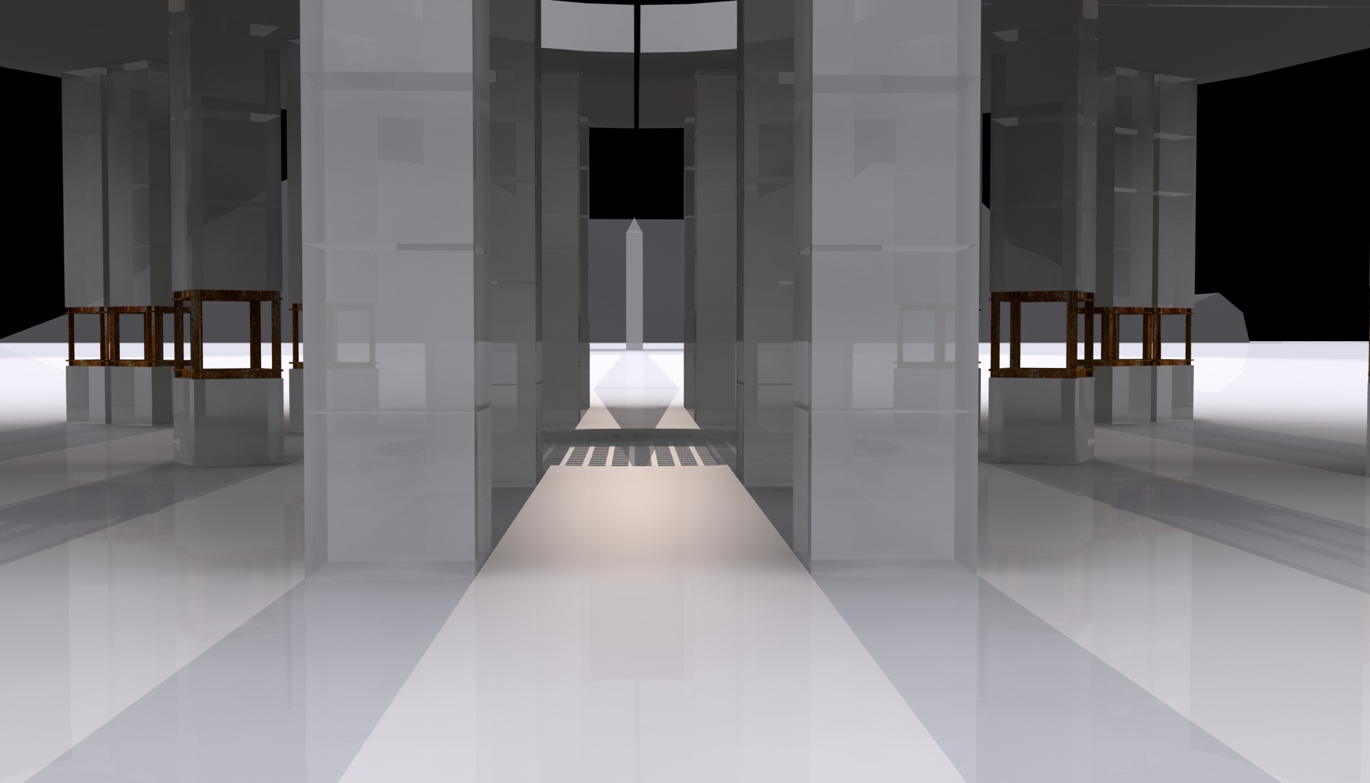 During the Equinox, the shadow cast by the top of the obelisk reaches the exact center of the spiritual chamber.