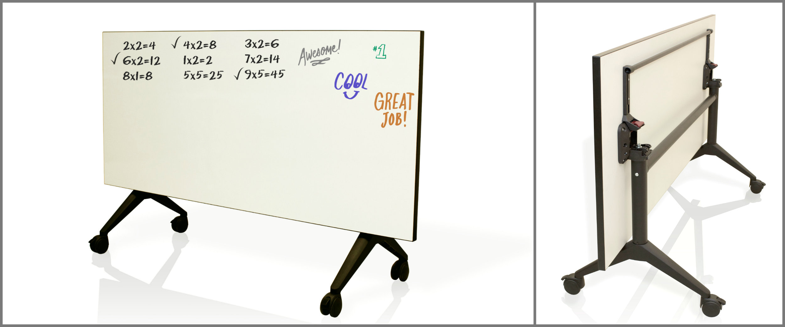The Tilt Table - Show and tell will never be the same with our Dry Erase Tilt Table! By giving students the freedom to write, draw or solve problems on a dry erase surface, it cultivates creativity and encourages students to become more confident in their work. The tilt feature of this table is an added bonus for teachers and students, serving as a great way to display student work or to instruct from!