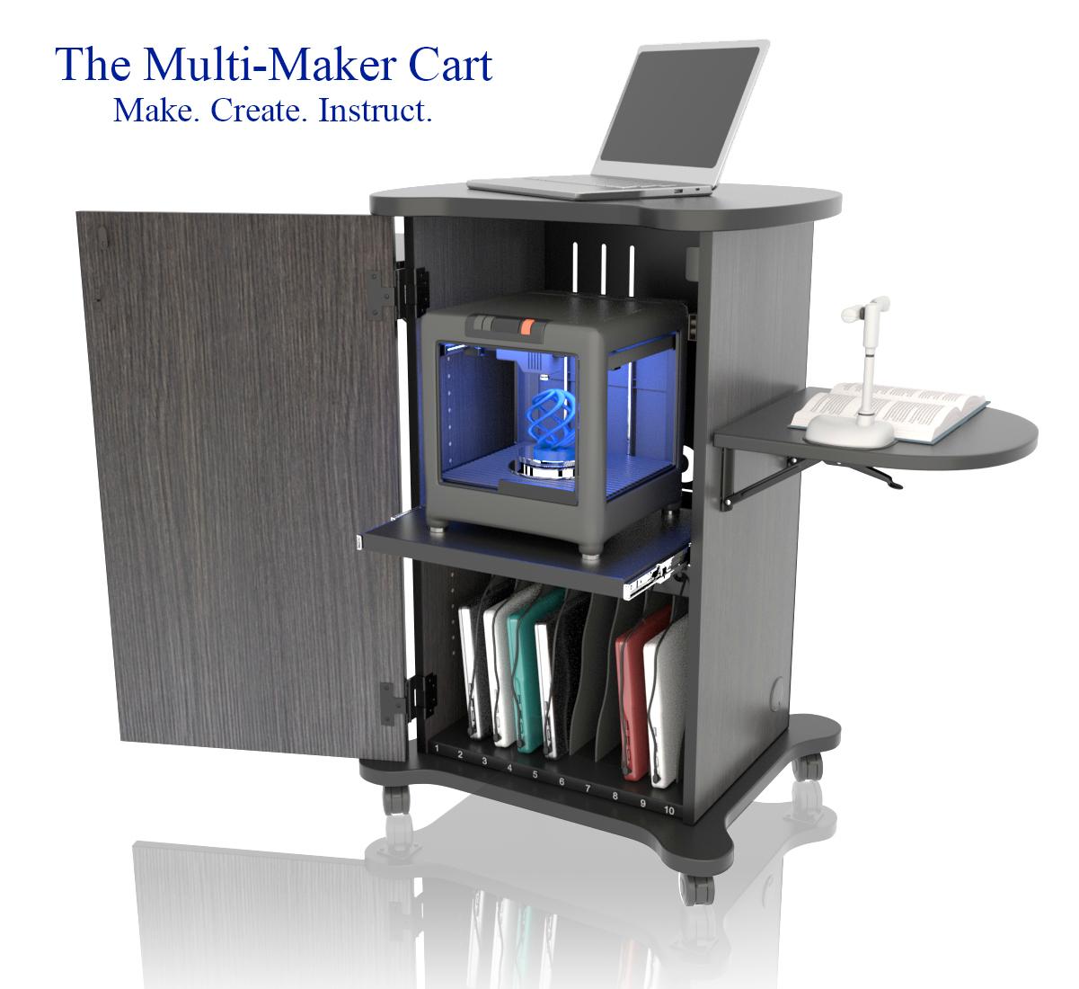 CEF Multi-Maker 3D Printer Cart