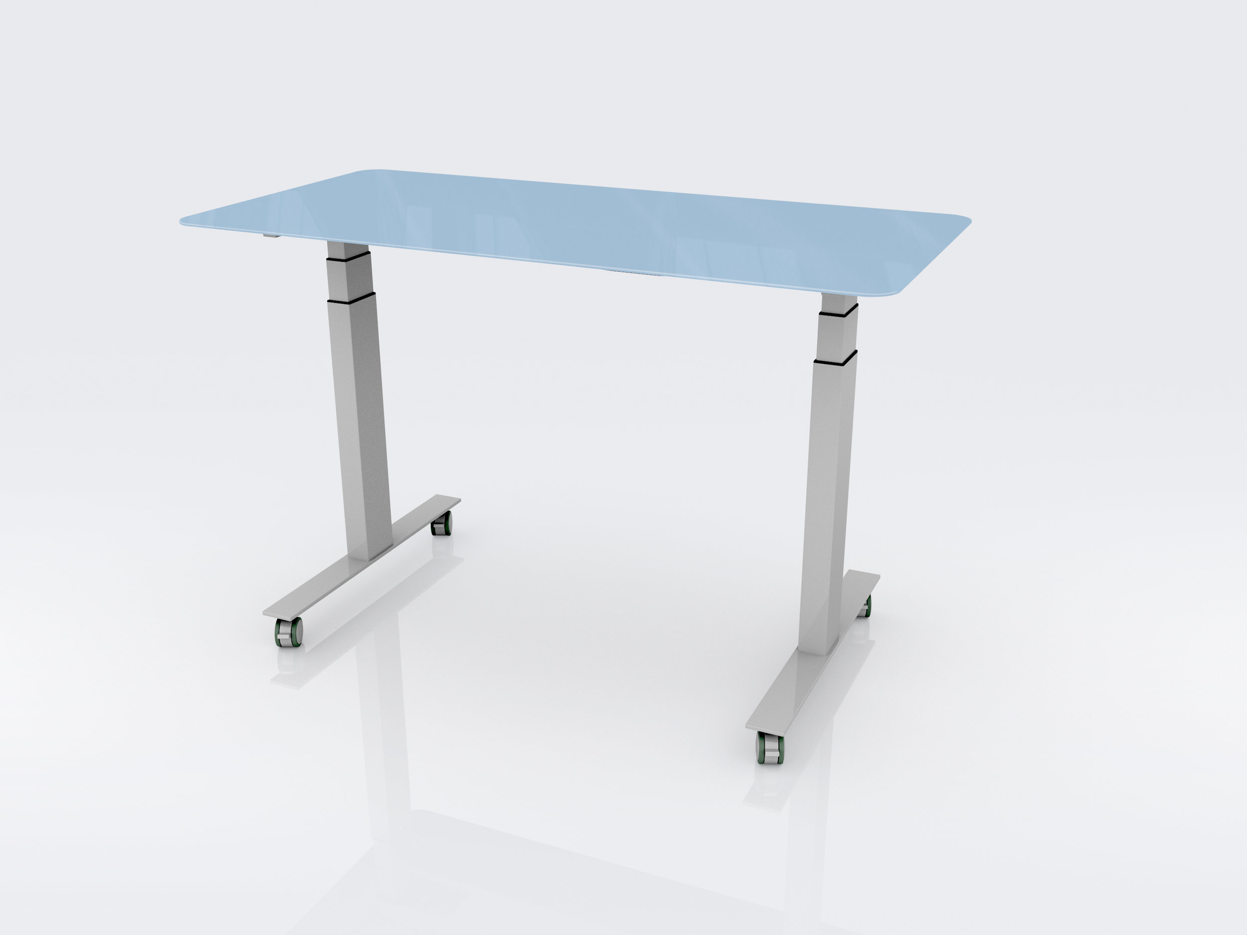 CEF Glass Markerboard Table