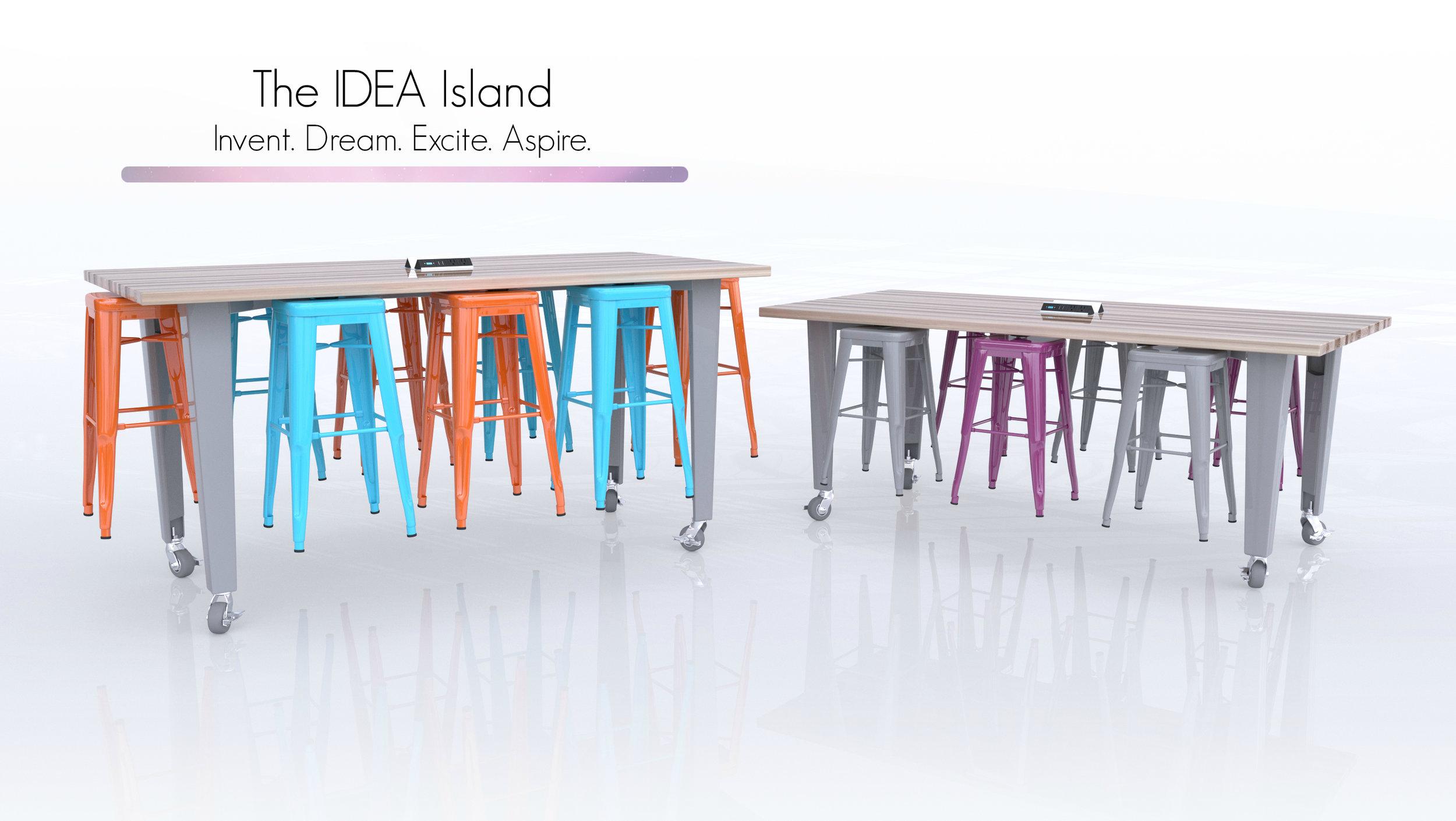 CEF IDEA Island Tables