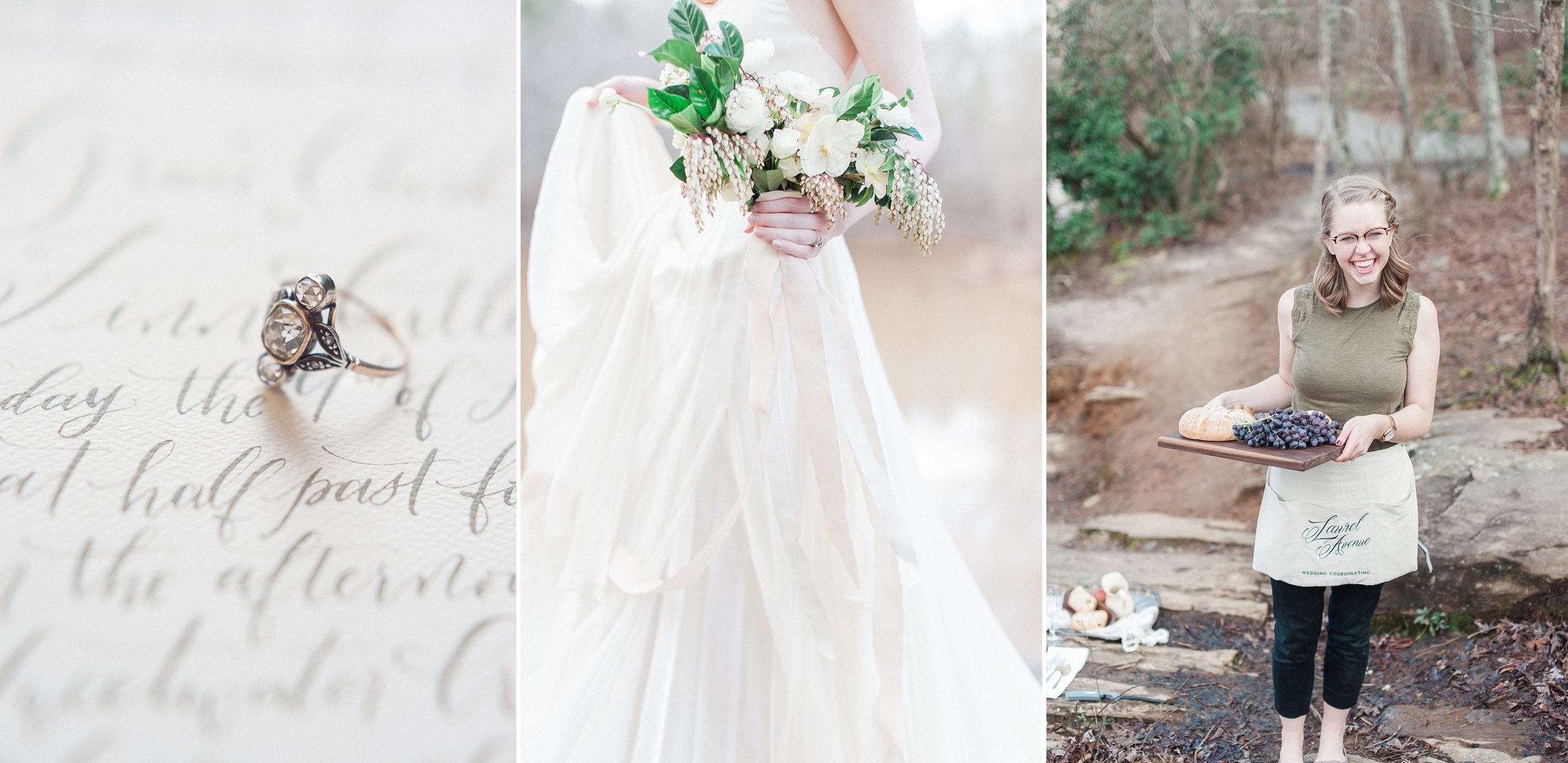 Wedding planning, coaching, coordinating managing wedding timelines for perfect wedding days with Laurel Avenue weddings.