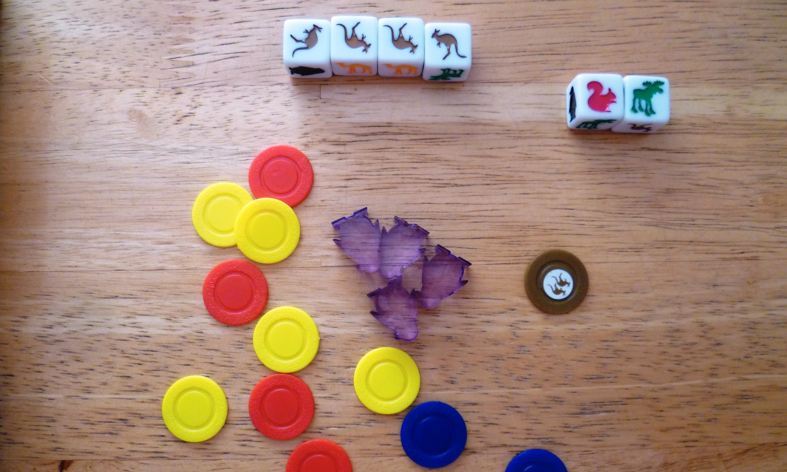 A score of 26 points (16 for Kangaroos, 9 for the squirrel moose pair, and a penny from the next player).