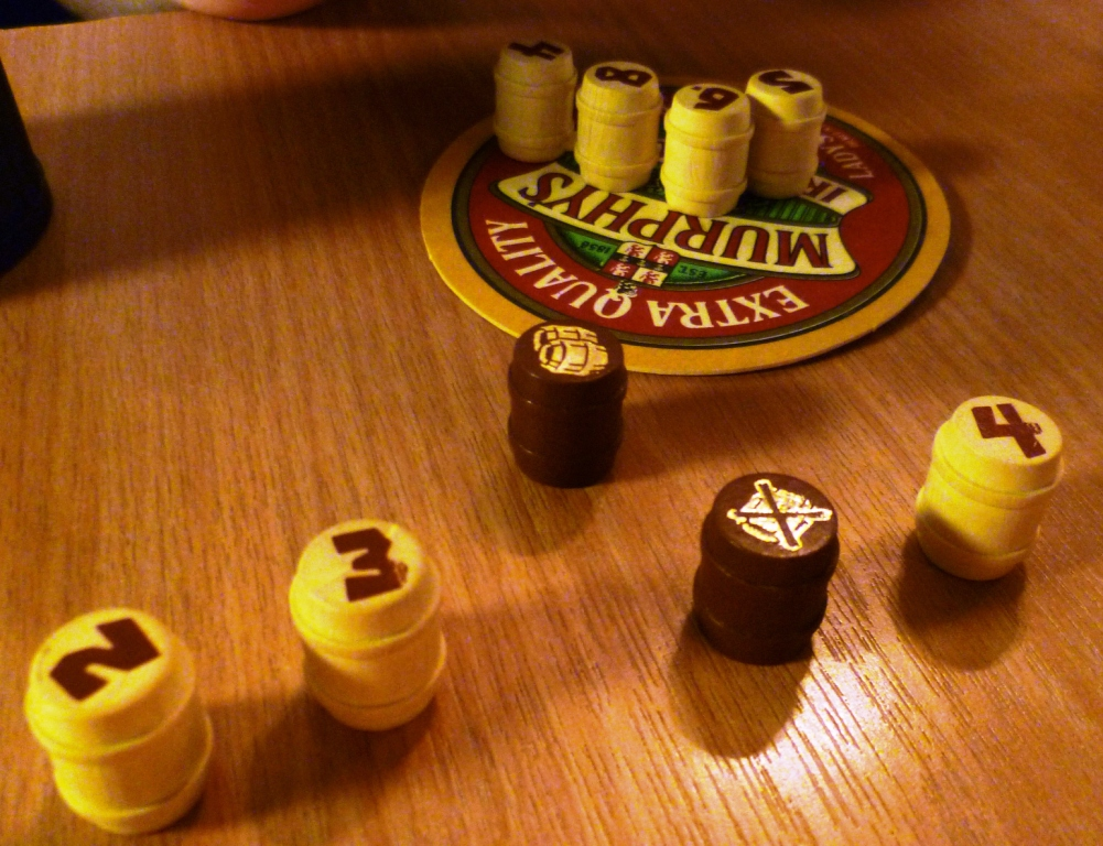 The Brown barrels here may alter the score from a minimum of 7 to a maximumof 11