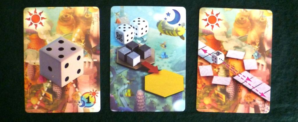 Some of the power cards in the game, the sun and moon relate to whether they are played during Bee (dice) placement or on bee retrieval