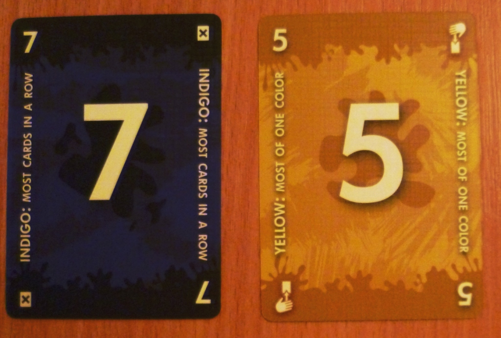 Some of the cards won in Red7