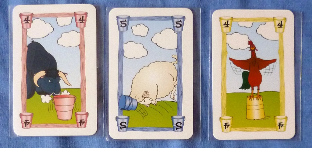 Cards used in Bucket King