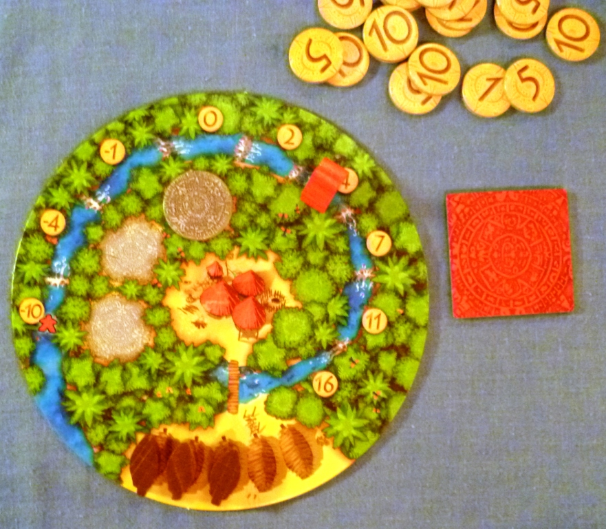 Home Village board with places for cacao at the bottom