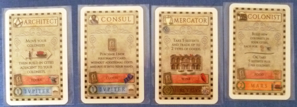 Some of the cards in Concordia
