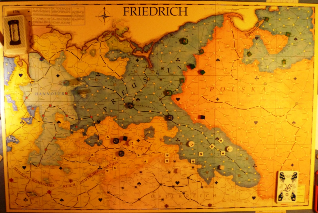 Friedrich board with Prussia (the main player) in the middle