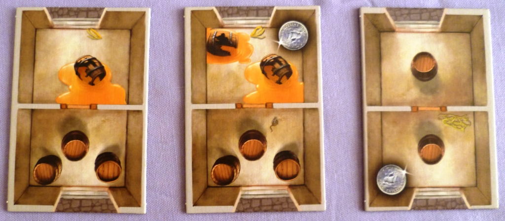Three of the Warehouses available which can be played either way round thus making every game a little different
