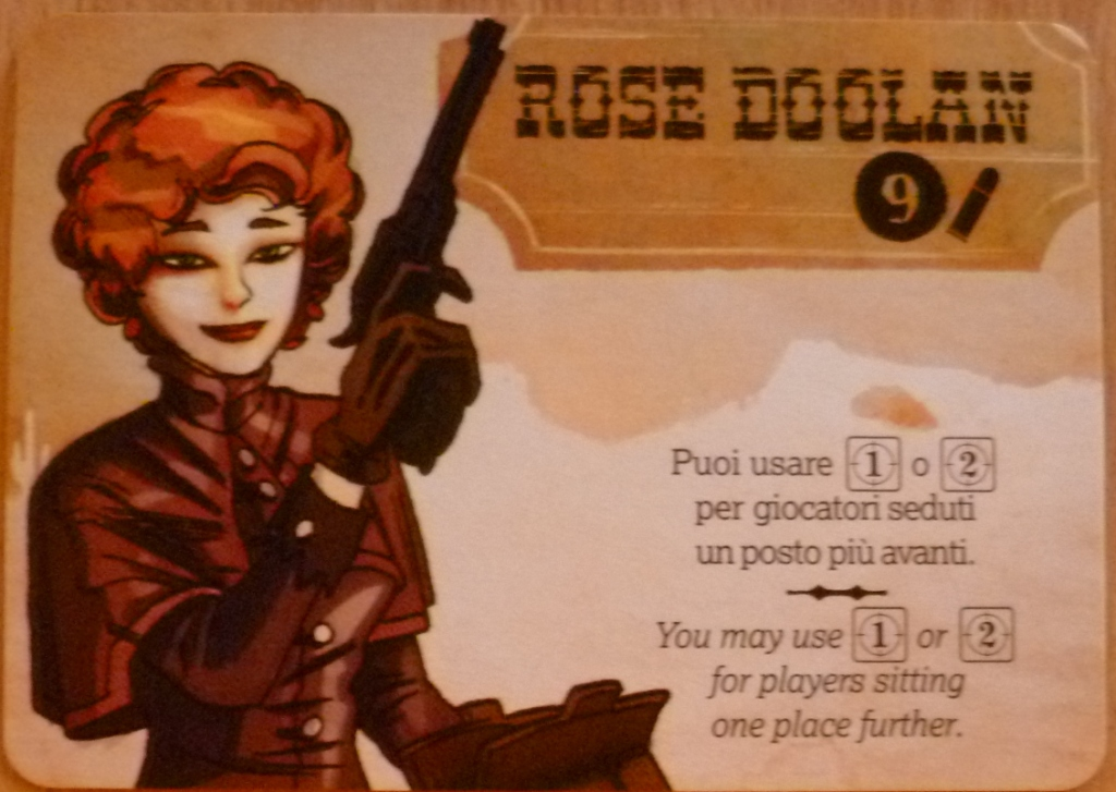 My character card, role playing your character is great fun and adds greatly to the game.