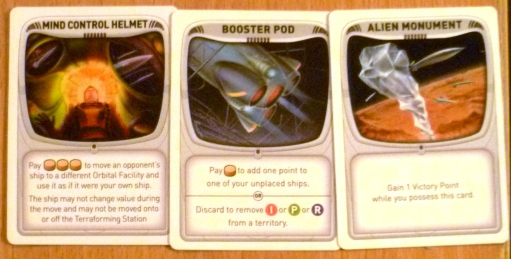 Alien artefact cards