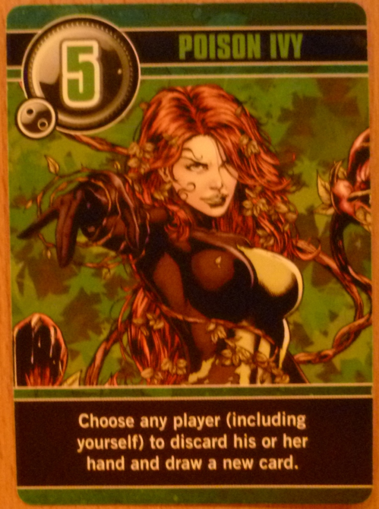 """The character Poison Ivy as portrayed by Uma Thurman in """"Batman and Robin"""", here with a Love Letter power"""