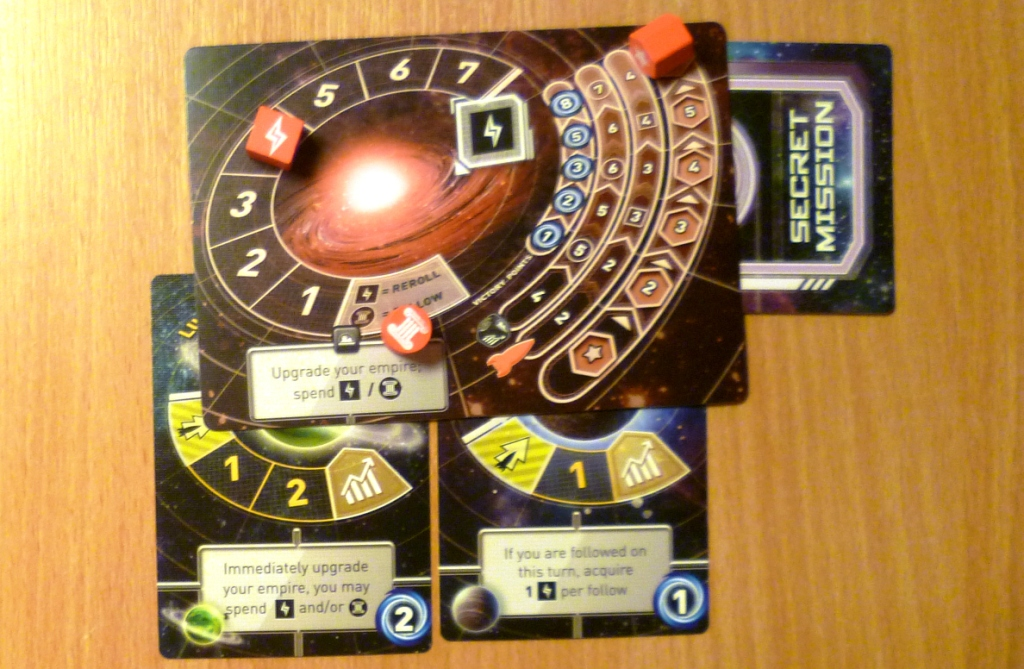 A players holding in Tiny Epic Galaxies