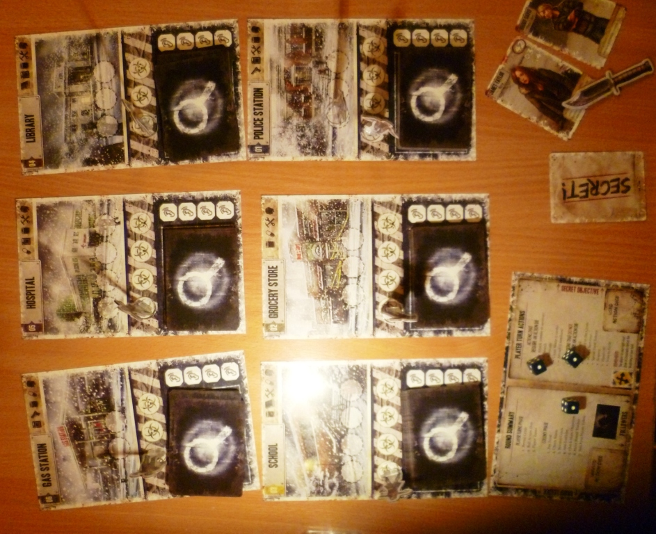 Part of the layout in Dead of Winter