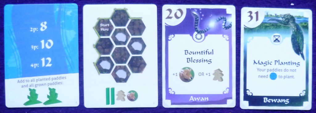Some of the cards from Spirits of the Rice Paddy