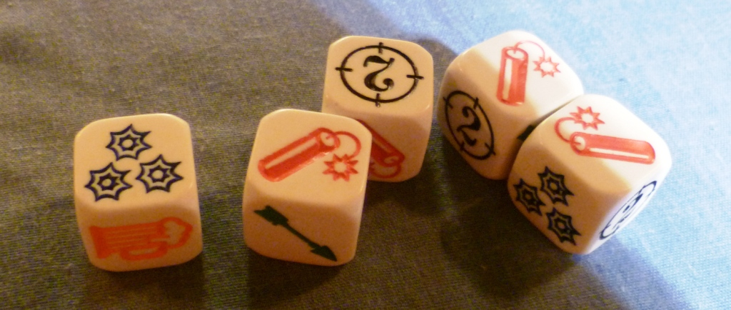 Dice for Bang the Dice game