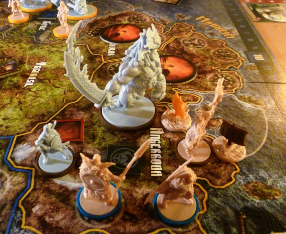 The miniatures in Blood Rage are fantastic