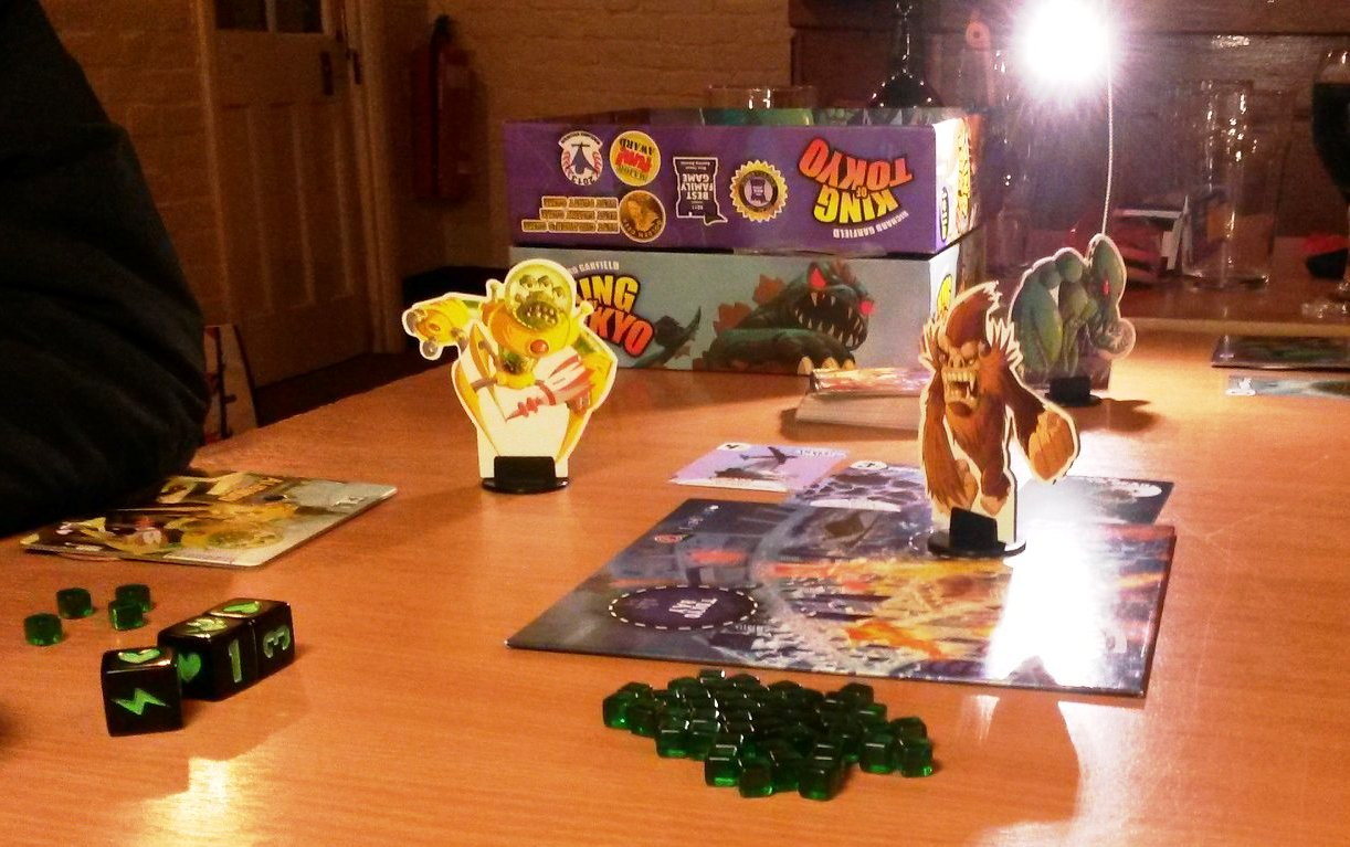 King of Tokyo with some sort of Ape terrorizing the city