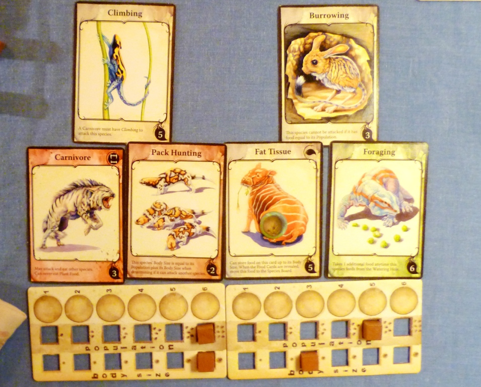 Two creatures in Evolution (picture from previous game)