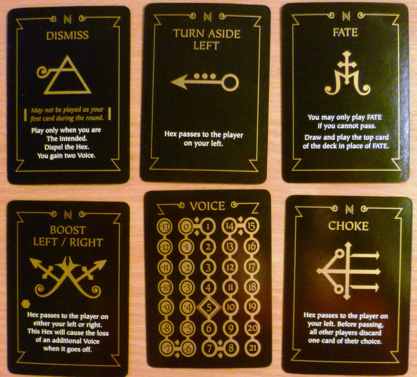 Some of the cards in Hex Hex