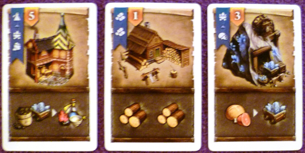 A sample of cards played during a round