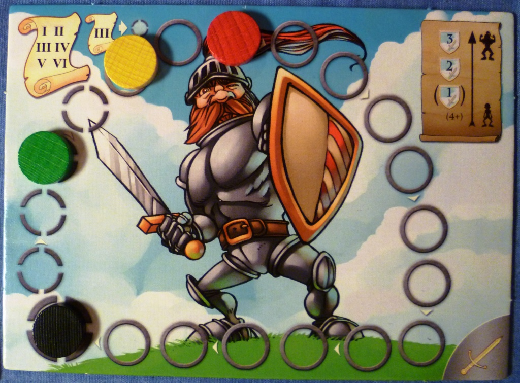 One of the battle boards in Die Holde Isolde