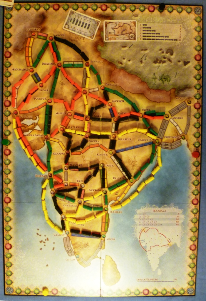TTR - India at games end, check out Greens lovely big loop and how Red (me) was hemmed into the North West.