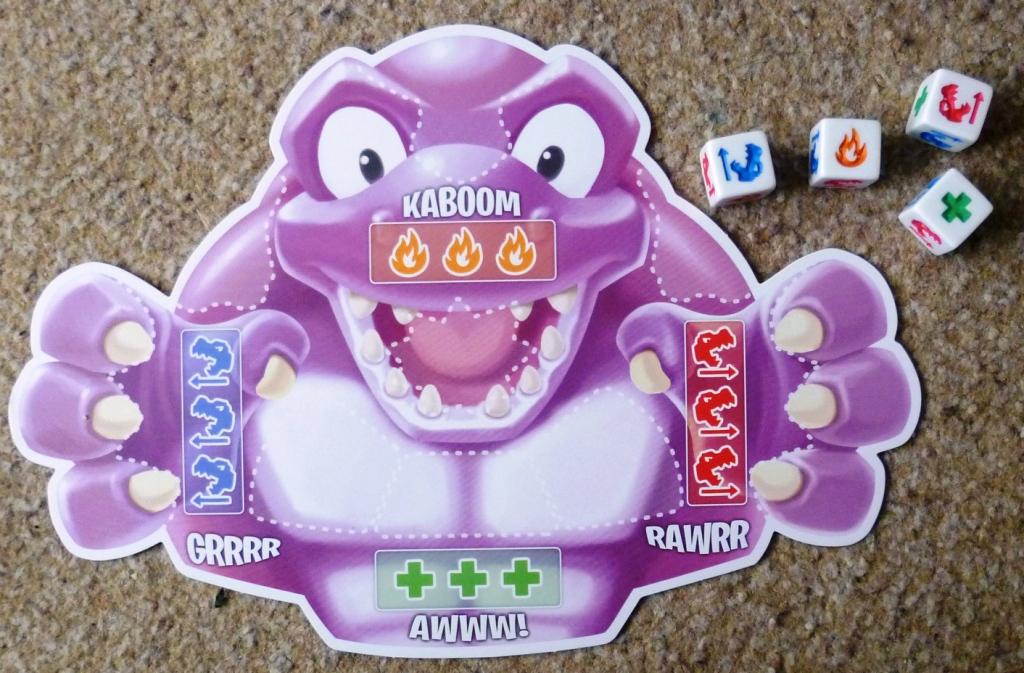 A Roar-a-Saurus board