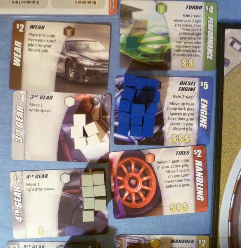 Some of the cards in Automobiles