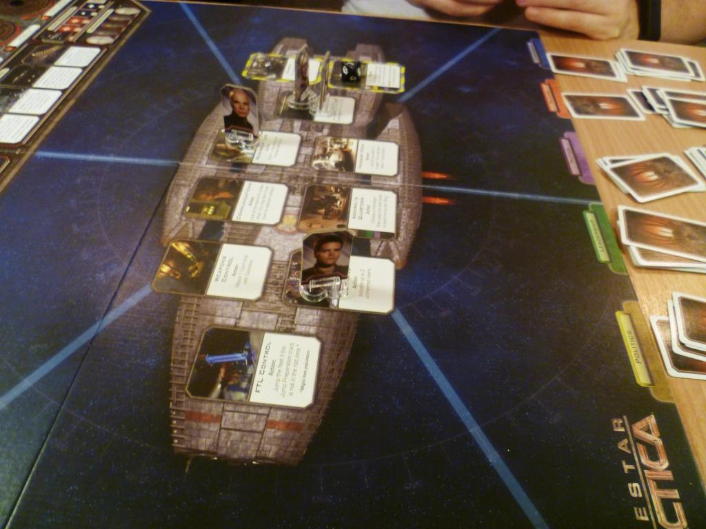 The main board in Battlestar Galactica