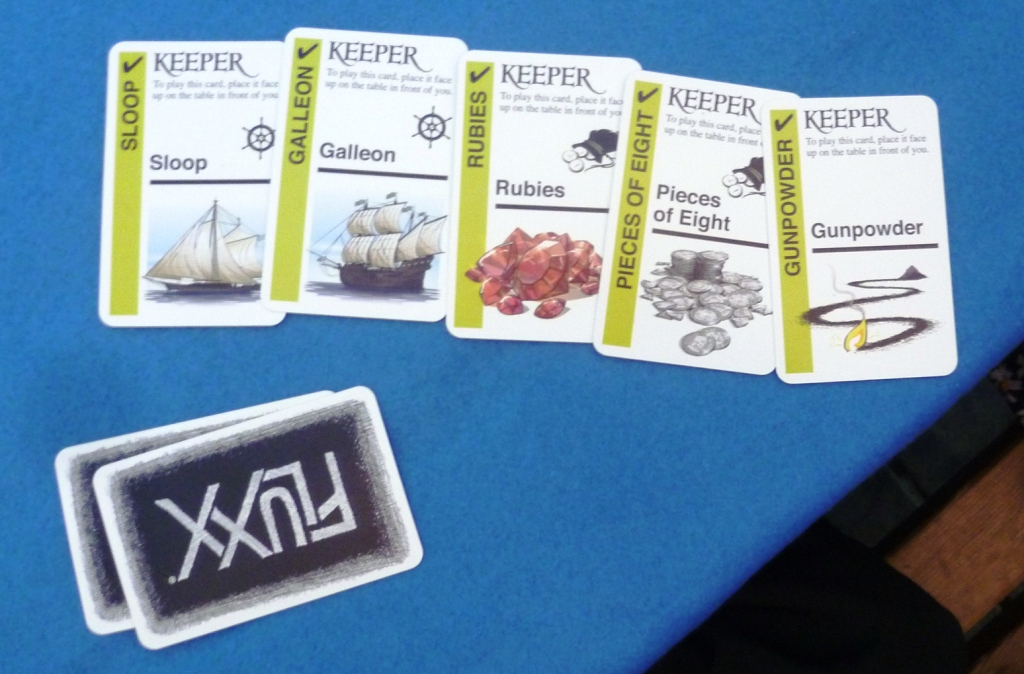 One players Keepers in Pirate Fluxx on Table 4