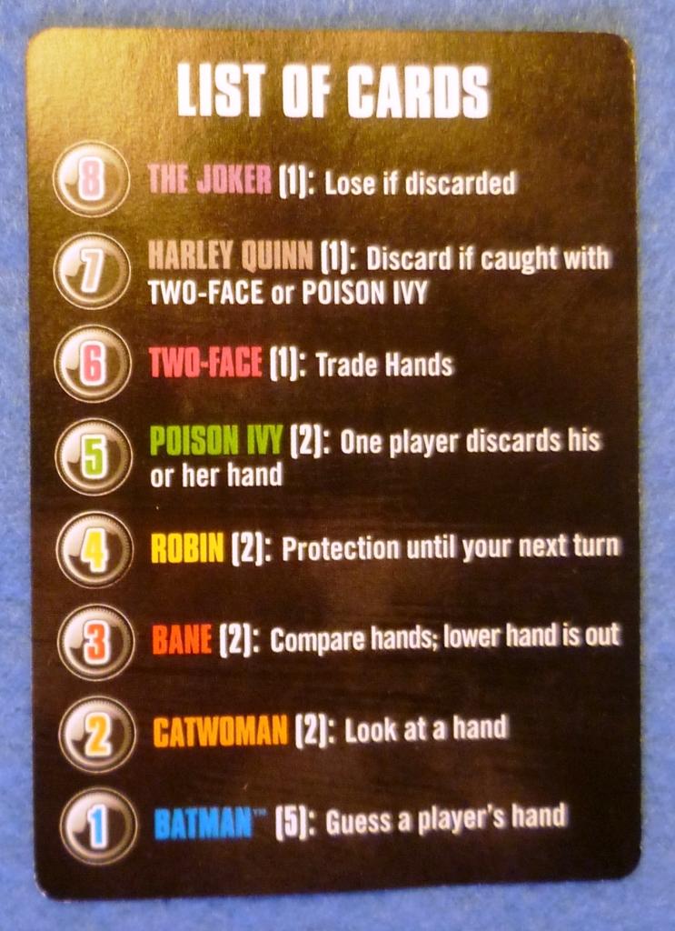 Crib card for Batman Loveletter