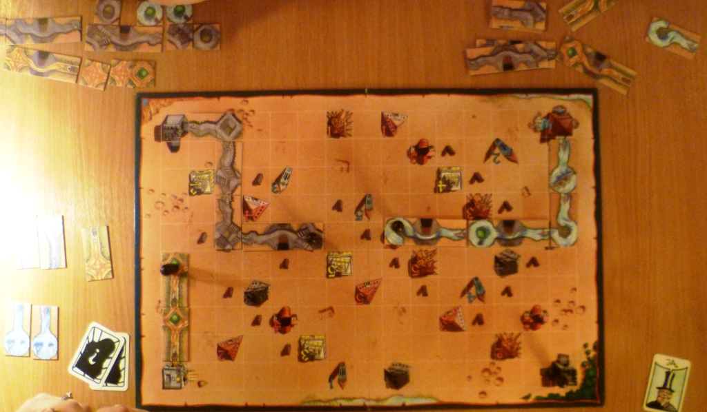 Drunter und Druber board early in the game