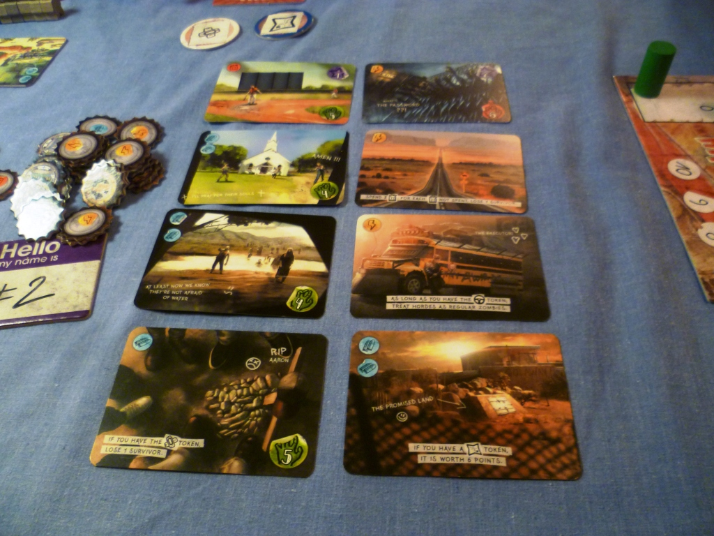 Journey set up for a four player game